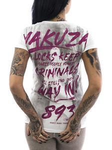 Yakuza T-Shirt Lock Up 13125 weiß Frauen T-Shirt Sport Freizeit gR XS