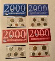 Mint Uncirculated Coin Set Original Mint Packaging All 20 Coins 2000 P/&D U.S