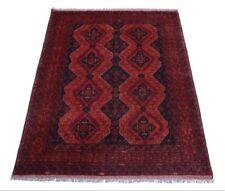 Afghan Khal Mohammadi 200 x 150 cm Handgeknüpfter Orientteppich dunkel rot