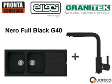 Lavello Incasso Elleci Living 2 Vasche e Miscelatore LGL50040C02 116x50 Nero G40