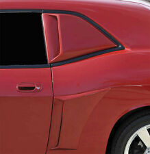 08-18 Dodge Challenger RT SRT8 SXT Xenon Urethane Quarter Window Body Scoops 4pc