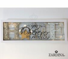 Marco De Vidrio Decorativo Led Lit placa de pared/decoración de pié