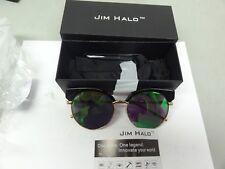 GLASSES BY JIM HALO PREMIUM CAT EYE BLACK ALLOY REVO GREEN/PC LENS HFF008