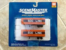 WALTHERS 1/87 HO SCALE SOO LINES 32' TRAILERS 2-PACK ITEM # 949-2372 F/S