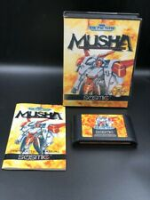 MUSHA Sega Genesis CIB Cartridge Original with Manual and Box  M.U.S.H.A. MINT!!