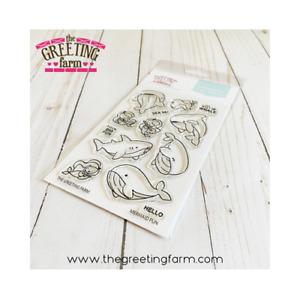 MERMAID FUN-The Greeting Farm Clear Stamp-Stamping Craft-Mini-Shark/Whale/Ocean