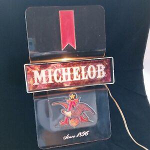 Vtg Michelob Beer Wall Light Bar Sign Advertisement Anheuser Busch Eagle WORKS!