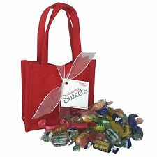 Sugar Free Sweet Gift Bag - Red Jute, Diabetic Gift Present Christmas etc