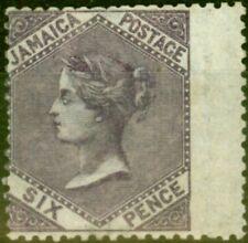 More details for jamaica 1870 6d dp purple sg5b fine mtd mint