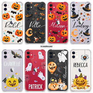 PERSONALISED HALLOWEEN PHONE CASE NAME SHOCKPROOF COVER IPHONE 11 12 PRO 7 8 XR