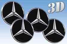 Rad Aufkleber Mercedes 4x60mm Nachahmung alle Größe Mitte Gap Logo-Badge Radzier