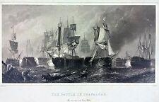Sea Battle Of Trafalgar Nautical Print (Ship, boat, sea, historic reproduction)