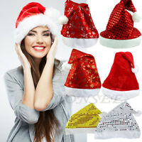 5PCs New Adult Unisex Xmas Cap Santa Novelty Hat Christmas Holiday Adult Costume