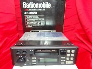 Radiomobile AKB920 80s Boxed Classic Cassette Car Stereo Warranty Bluetooth