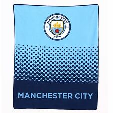 Official Licensed Football Product Manchester City Fleece Blanket FD Throw Gift