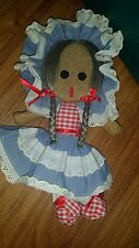 Vintage Cloth Burlap Rope Like Material Doll Seems Hand Made