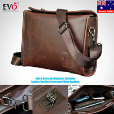 Faux Leather Briefcase/Attache Unbranded Bags & Briefcases for Men