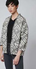 Topshop black and cream aztec fringed jacket size S - New £55