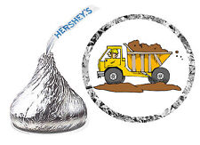 216 DUMP TRUCK CONSTRUCTION BIRTHDAY PARTY FAVORS HERSHEY KISS LABELS