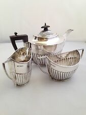 Argento Sterling Mappin & Webb servizio da tè-SHEFFIELD 1917 - 699g