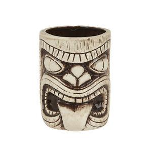 Ceramic Toscano Lono Tiki Mug Light & Coffee Brown 450ml Cocktail Mug Beach