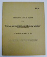 1934 Chicago and Eastern Illinois Railroad Company 13th Annual Report with Map