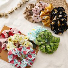 1PC Women Fruit Print Girls Hair Ring Tie Scrunchies Ponytail Holder Rope Band