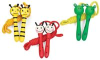 Kids Wooden Animal Skipping Rope Children Exercise Jumping Game Fitness Gym
