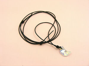 Adjustable KNOT NECKLACE made with SWAROVSKI Crystal HEART/ Moon / STAR/ Baroque