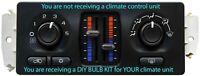 BULB KIT for 2003-2006 Chevy Silverado, Sierra Manual Slider Climate Controls