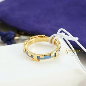 Tory Burch Serif T Enamel Stackable Ring Size 5 NWT