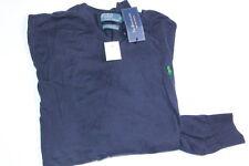 Polo Ralph Lauren Small Pony Navy V neck Pima Cotton Sweater  2XB 2X Big