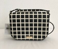KATE SPADE NY LAUREL WAY LARGE CARSEN PRINTED CHECK LEATHER CROSSBODY BAG - NWT
