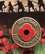 The ANZACS Lest We Forget Lapel Pin Remembrance Day * ANZAC Day* 25mm NEW