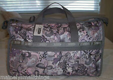 NWT LeSportsac LARGE WEEKENDER 7185 D100 FLY AWAY Butterfly Print!