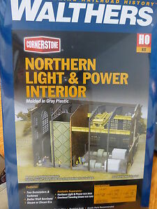 Walthers Cornerstone HO #933-3130  Interior for Northern Light &Power Powerhouse