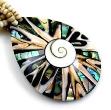 PAUA ABALONE SHELL, CONE SHELL, SHIVA EYE necklace ; AA216