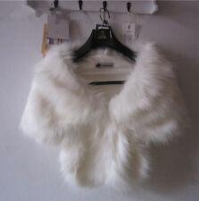 High-grade Elegant Bridal Wedding Faux Fur Long Shawl Stole Wrap Shrug Scarf New