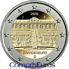 2 Euros Conmemorativos ALEMANIA 2020 *Brandenburgo* Sin Circular