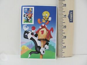 Sylvester and Tweety Looney Tunes Collectible USPS Stamp 34c Stamp Picture Card
