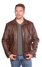 NUBORN Roger Aviator Leather Bomber Jacket