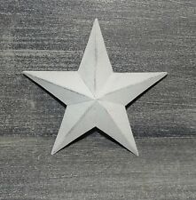 """Primitive Vintage Repro Shabby Country CREAM COLOR Hanging Star Small 6"""" Size"""