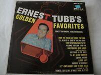 ERNEST TUBB'S GOLDEN FAVORITES ERNEST TUBB AND HIS TEXAS TROUBADOURS VINYL LP