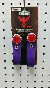 Flyer Vinyl Hub Shiner Sparkle Purple w/ Red Reflector Schwinn Style Cruiser