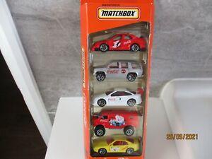 MATCHBOX 5 CAR SET  RARE COCA COLA SET 1/64 SCALE FROM 1998