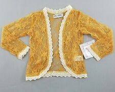 Jak and Peppar 4 Lacey Days Jacket Gold Lace Boutique Girls NEW kg1