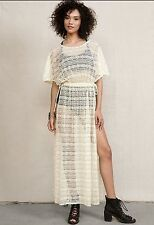 Urban Outfitters Urban Renewal Lace Curtain Kimono Tunic Maxi Dress S/M