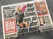 Bildzeitung vom 30.08.2013 * Geschenk zur Geburt * Sylvie van der Vaart