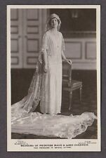 Royal Real Photo Postcard RPPC Princess Maud Wedding Dress