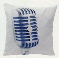 "NIp NEW IKEA Gunlög Pillow/cushion cover--White w/microphone 20x20"""